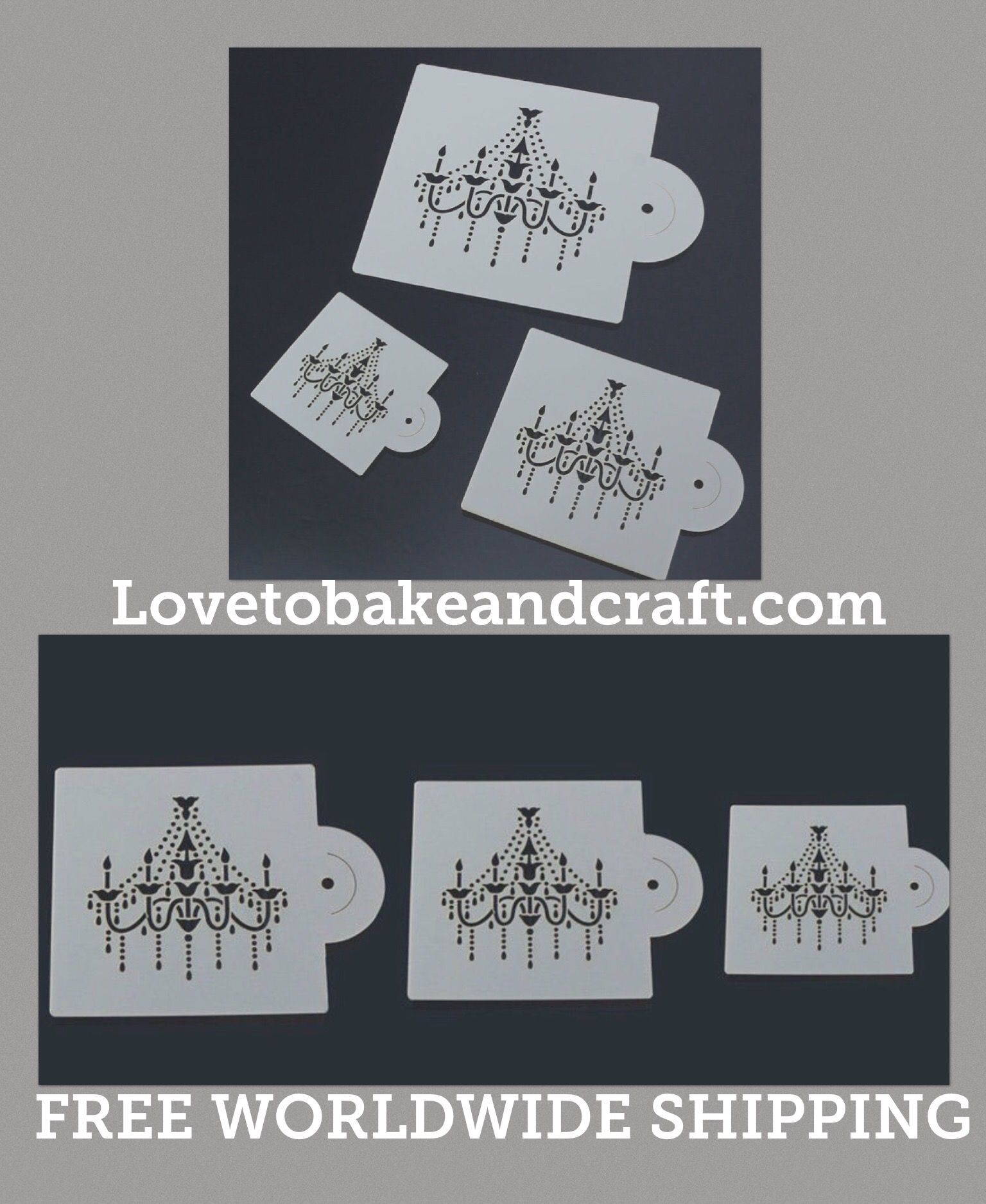 Chandelier Cake Stencil Wedding Decorating Free
